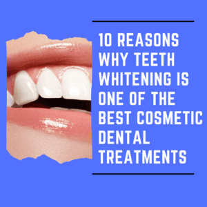 "Title Banner for""10 reasons why teeth whitening is one of the best cosmetic dental treatments"""