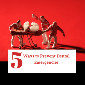 "Title banner for ""5 ways to prevent dental emergencies"""